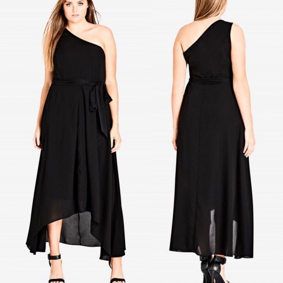 City Chic Dresses & Skirts - City Chic Black One Love Maxi Size S/16